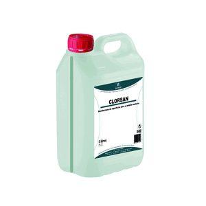 vista general de garrafa solucion hidroalcoholica clorsan