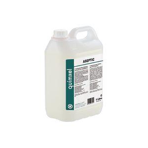 vista general de garrafa de 5l de desinfectante quimxel