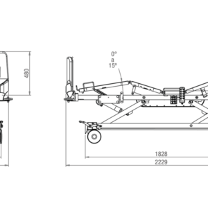 vista general de planos de cama hospital electrica