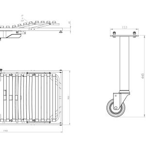 vista del plano de cama articulada geriátrico fido con elevador eléctrico