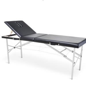 vista general de camilla de fsioterapia portátil plegable