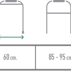 vista completa de andador rollator alcala rojo