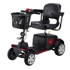 vista completa de scooter momo rojo de teyder