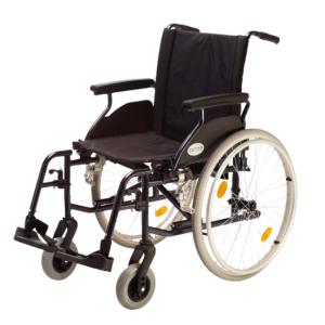 vista lateral de silla de acero country r600 plegable ligera de teyder