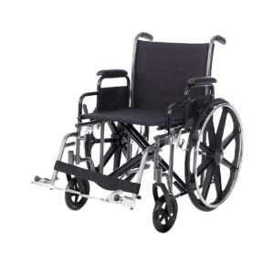 silla de ruedas de acero bariatrica hercules vista general