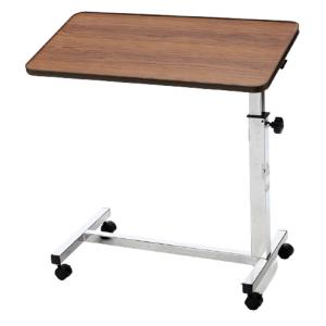 Mesa auxiliar reclinable teyder marron uso para camas