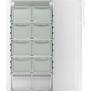 Vista frontal de refrigerador Liebherr de laboratorio ideal para vacunas