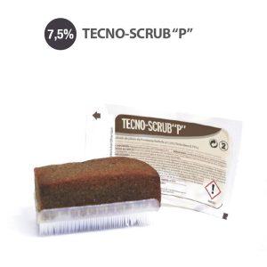 Vista de esponja tecno scrub P y su envase estéril