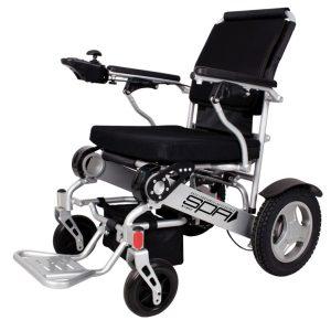 vista completa de lado de silla de ruedas ligera spa de teyder