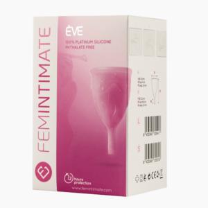 Imagen frontal embalaje copa menstrual