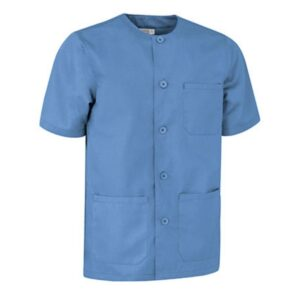 pijama cuello redondo de botones ideal para residentes azul delfin