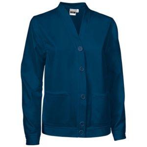 vista general de chaqueta creta de mujer azul marino