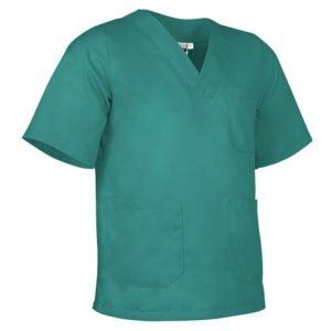 vista general pijama cuello pico verde quirófano