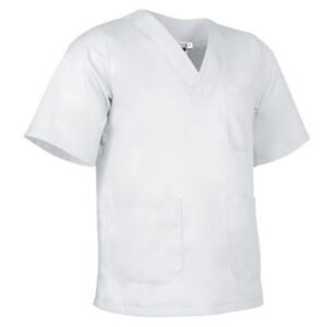 vista general pijama cuello pico blanco